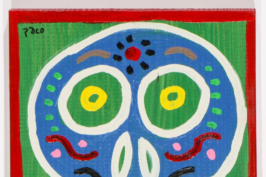 """Felici La Muerte """"PACO"""" (20th c.) 4 Skull Paintings - 4"""
