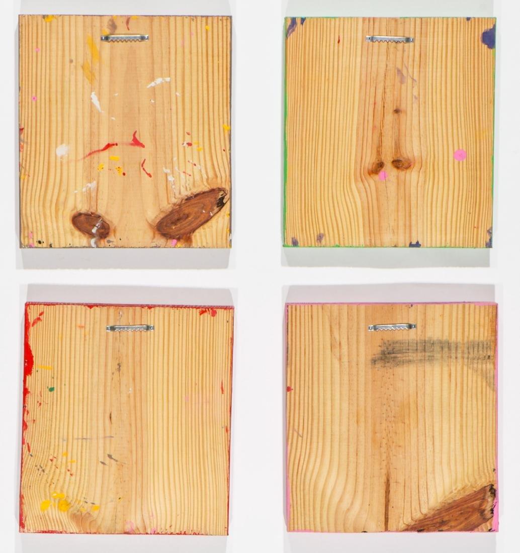 """Felici La Muerte """"PACO"""" (20th c.) 4 Skull Paintings - 6"""