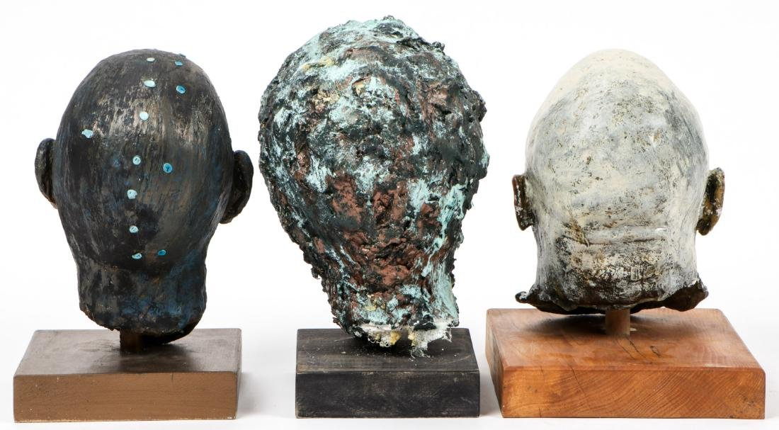 Gina Gruenberg (20th c.) 5 Painted Plaster Cast Heads - 3