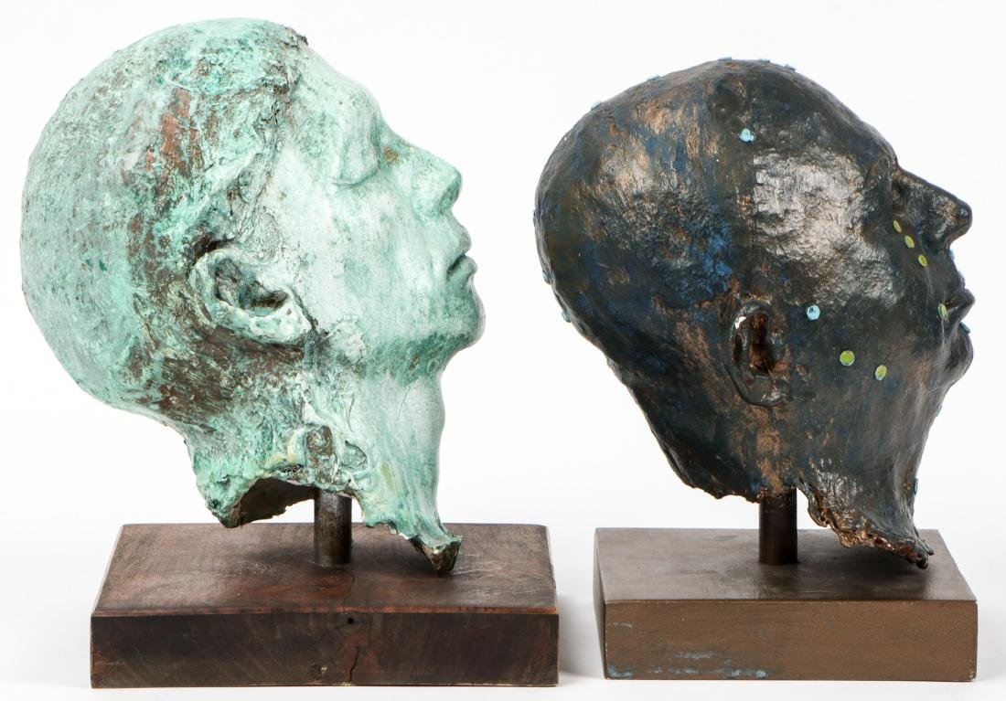 Gina Gruenberg (20th c.) 5 Painted Plaster Cast Heads - 5