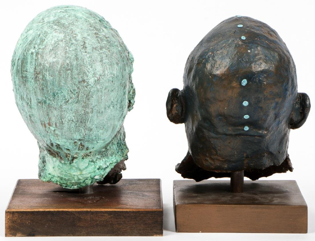 Gina Gruenberg (20th c.) 5 Painted Plaster Cast Heads - 6