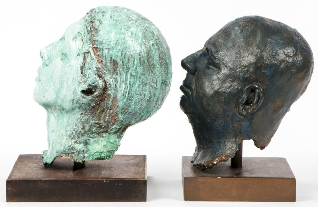 Gina Gruenberg (20th c.) 5 Painted Plaster Cast Heads - 7