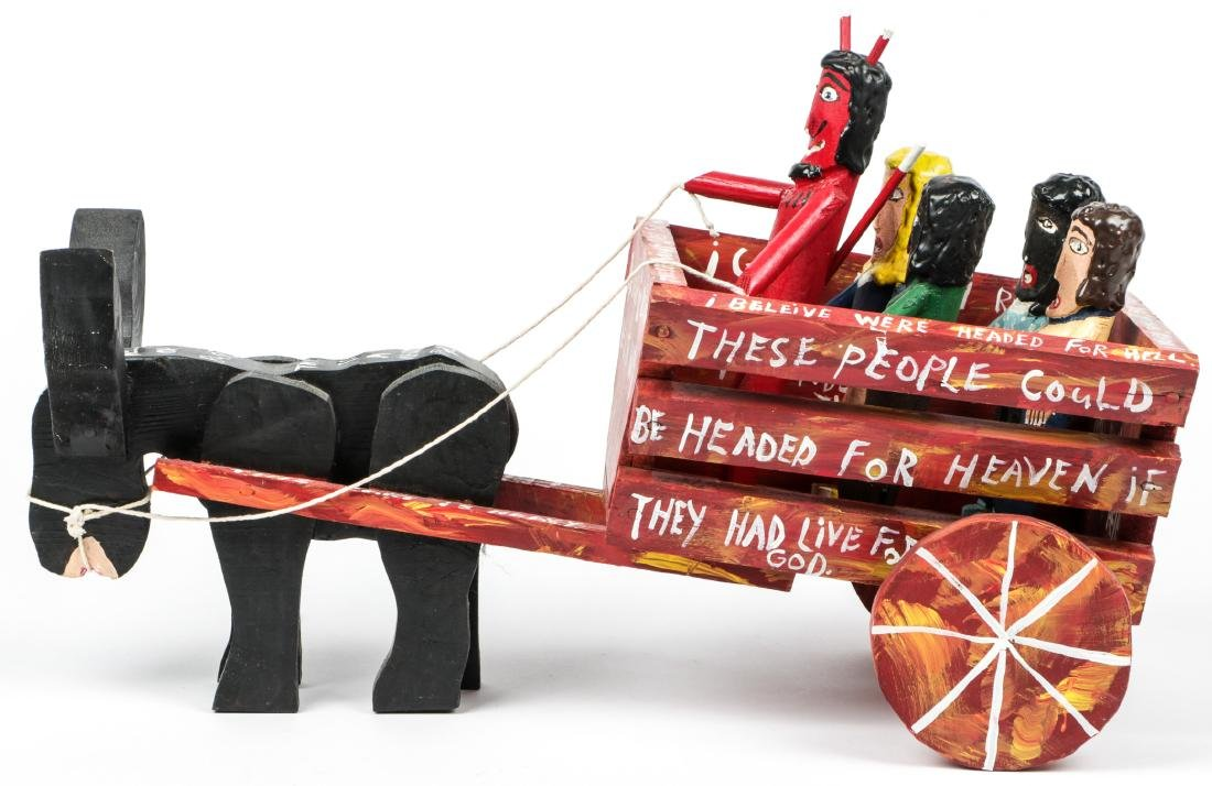 Ronald Cooper (1932-2012) 2 Works: Hell Cart and - 4