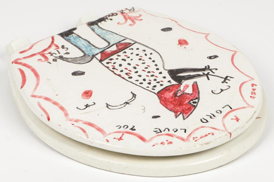 R.A. Miller (American, 1912-2006) Red Devil Toilet Seat - 6
