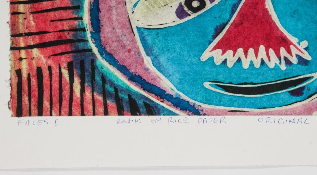 2 Ade Oyelami (20th c.) Batik Paintings - 3