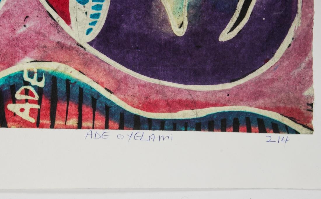 2 Ade Oyelami (20th c.) Batik Paintings - 4