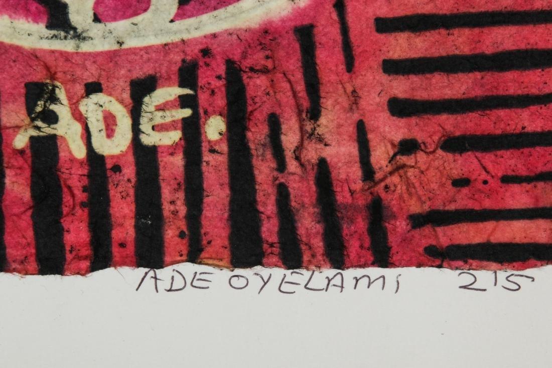 2 Ade Oyelami (20th c.) Batik Paintings - 7