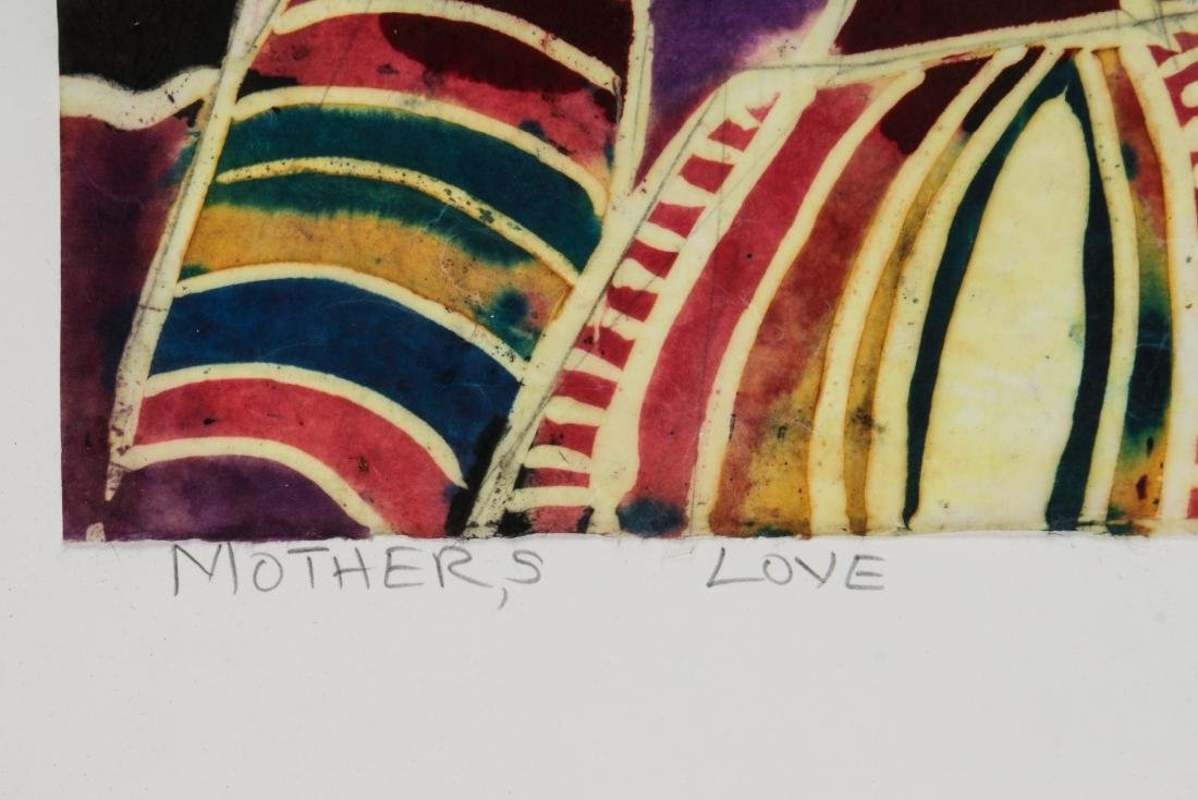 Ade Oyelami (Nigerian, 20th c.) Batik Painting on Rice - 3