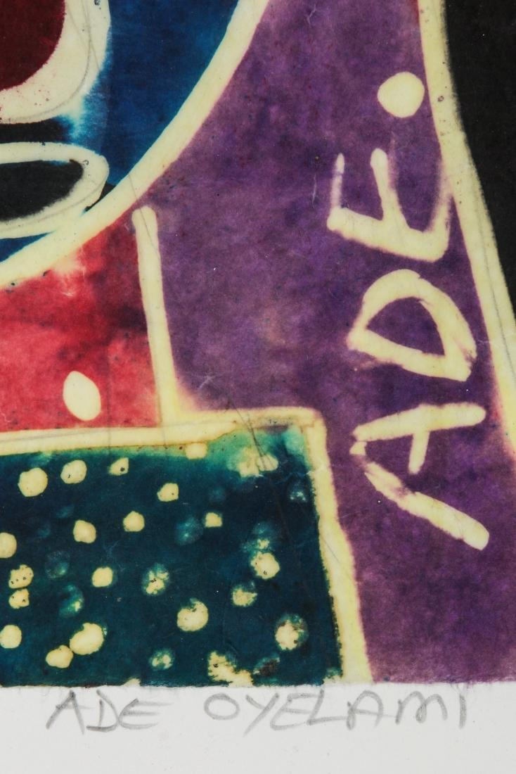 Ade Oyelami (Nigerian, 20th c.) Batik Painting on Rice - 5