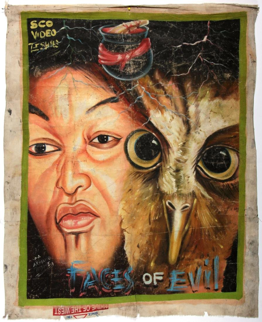 Vintage African Movie Poster: Faces Of Evil, Painting
