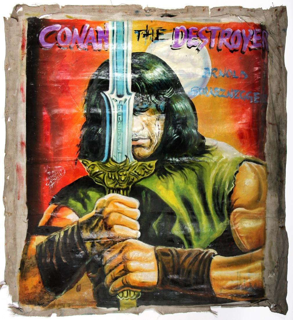 Vintage African Movie Poster: Conan The Destroyer,