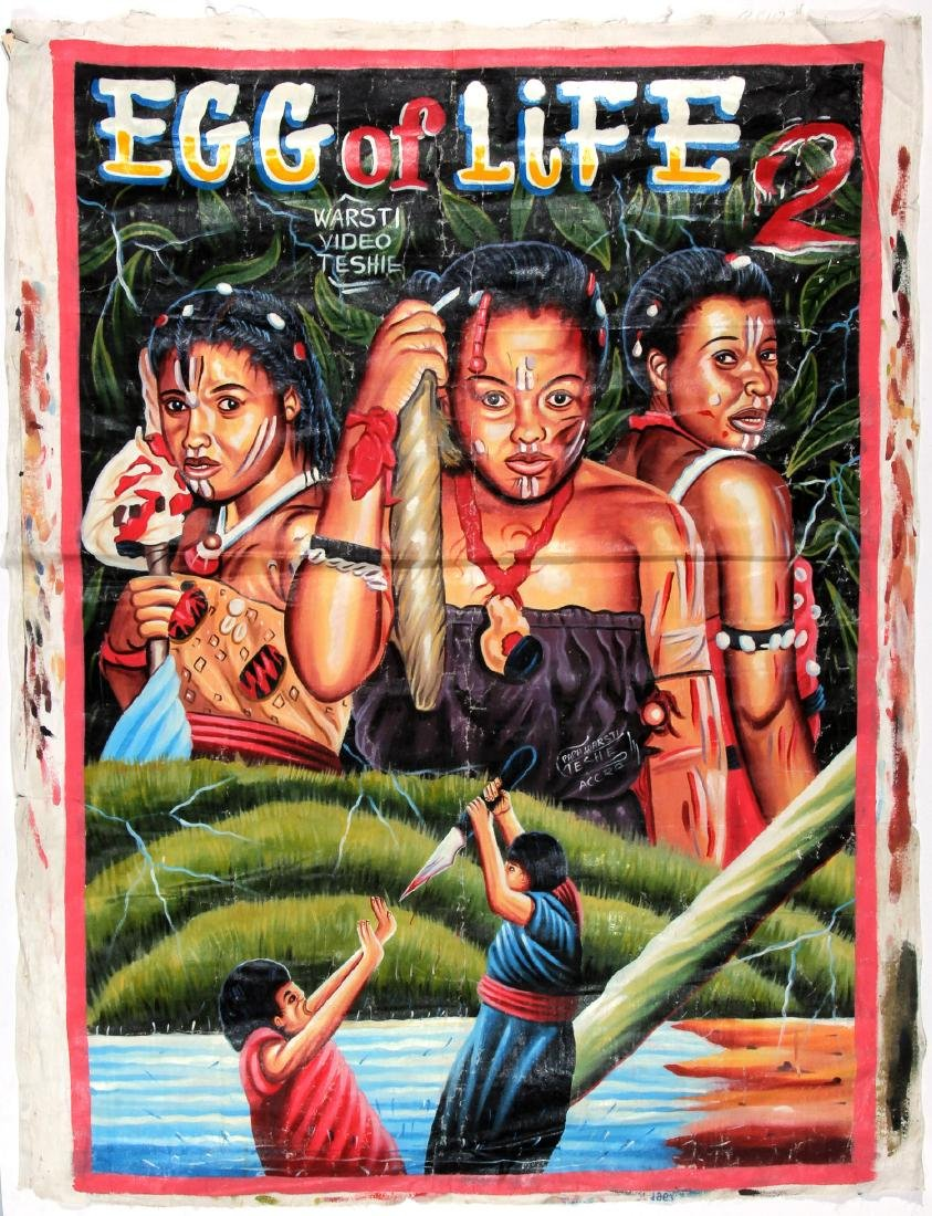 Vintage African Movie Poster: Egg of Life 2, Painting