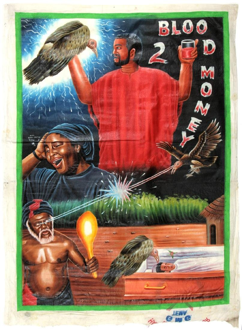 Vintage African Movie Poster: Blood Money 2, Painting