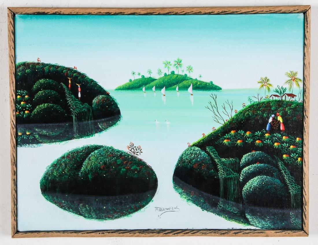 Mario Montilus (Haitian, b. 1961) Two Works - 2