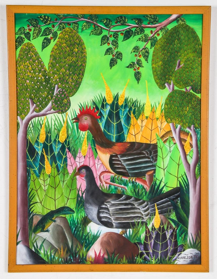 Adam Leontus (Haitian, 1928-1986) Painting - 2