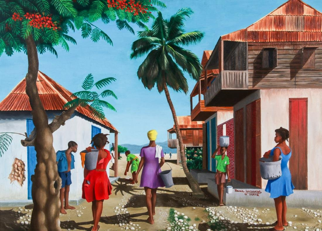 Franck Louissaint (Haitian, b. 1949) Painting, 1972