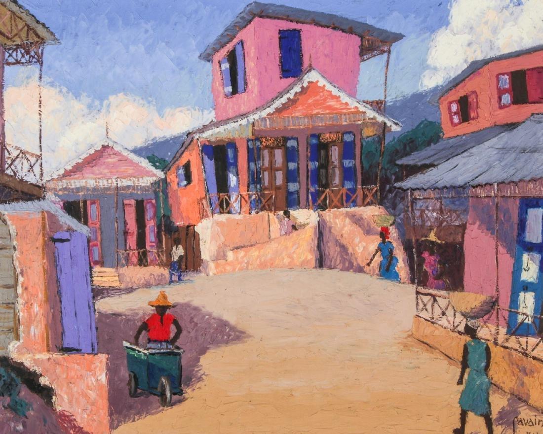 Petion Savain (Haitian, 1906-1973) Village Scene
