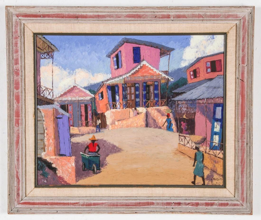 Petion Savain (Haitian, 1906-1973) Village Scene - 2