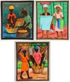 Henry Bottex (Haitian, 20th c.) 3 Paintings