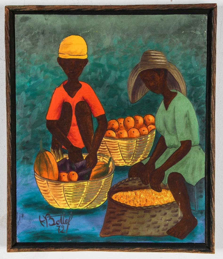 Henry Bottex (Haitian, 20th c.) 3 Paintings - 2