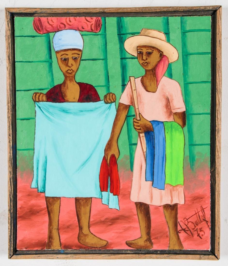 Henry Bottex (Haitian, 20th c.) 3 Paintings - 5