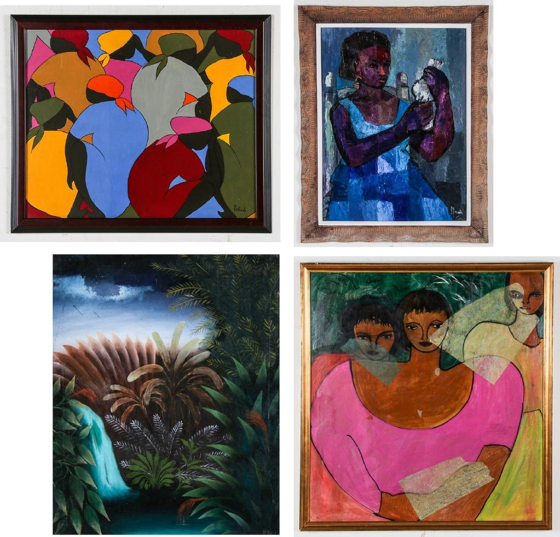 4 Works by Various Haitian (20th c.) Artists