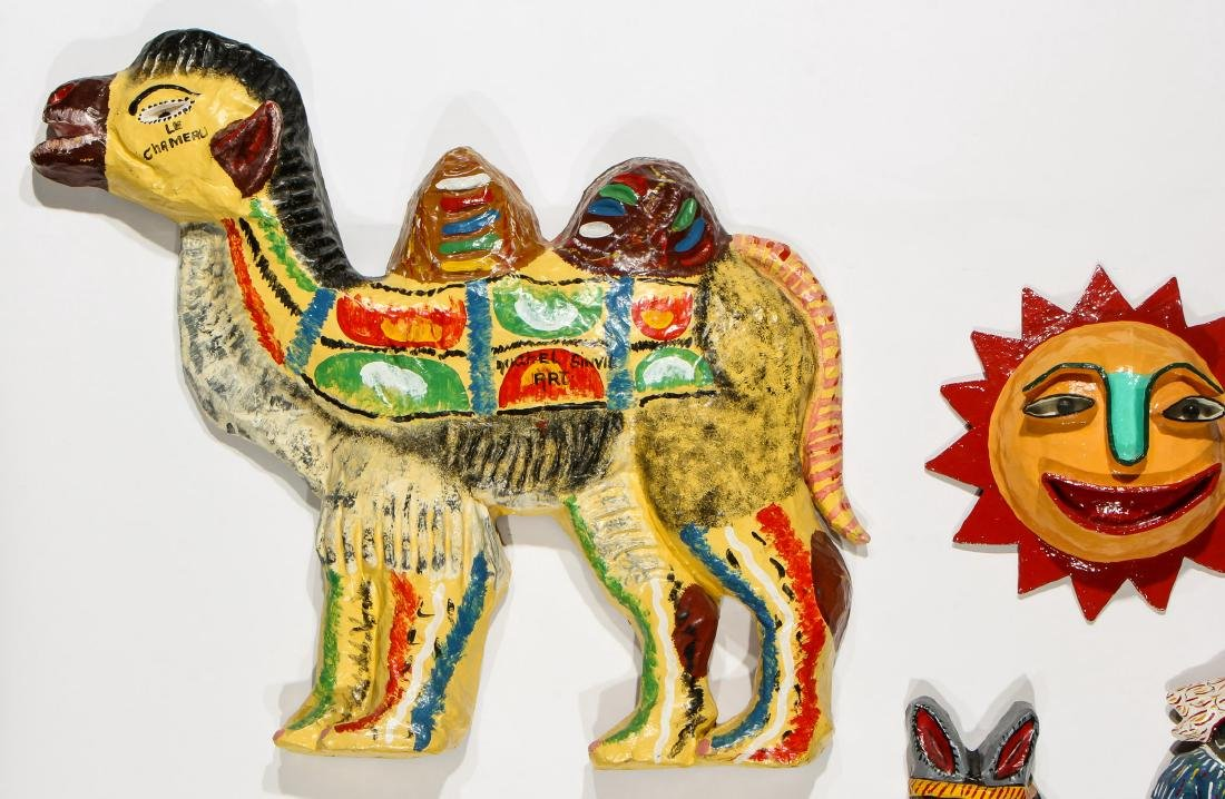 Group of 4 Haitian (20th c.) Paper Mache Sculptures and - 3