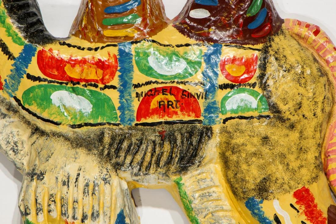 Group of 4 Haitian (20th c.) Paper Mache Sculptures and - 4