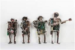 4 West African Folk Art Sculptures Benin