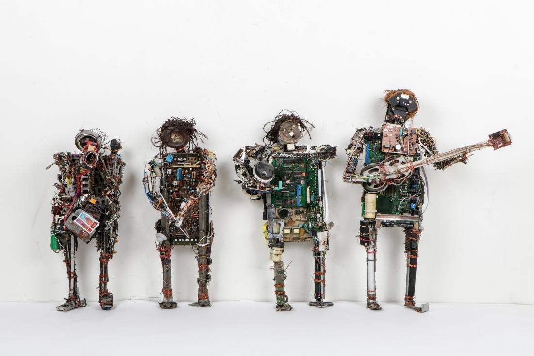 4 West African Folk Art Sculptures, Benin