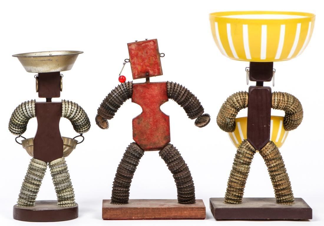 5 Vintage Folk Art Bottle Cap Figures - 3