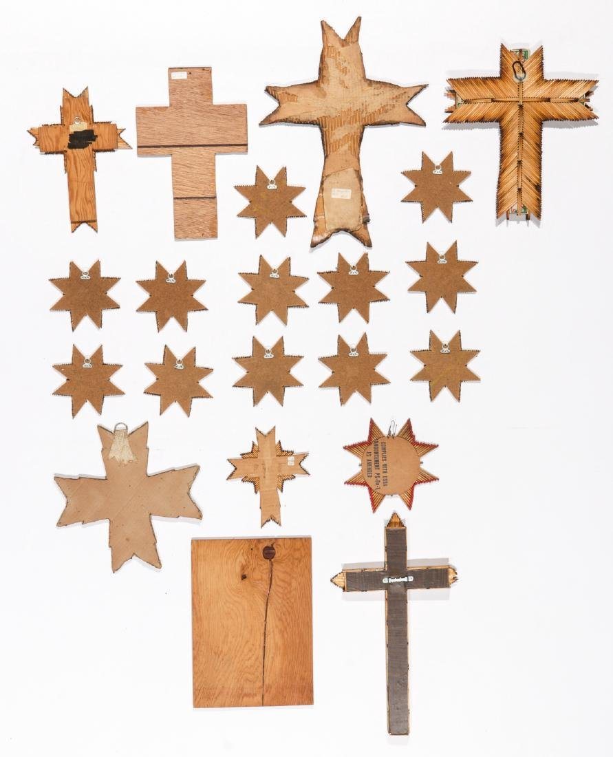 Collection of 21 Matchstick Crosses & Stars - 2