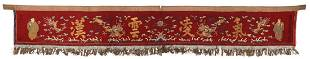 Antique Chinese Calligraphic Banner, Qing D.