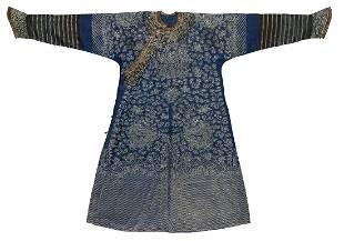 Antique Chinese Silk Gauze Summer Dragon Robe
