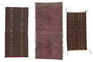 3 Antique Chin Tribal Textiles Burma