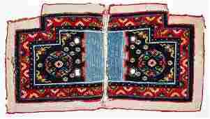 Tibetan Saddle Bottom Rug Tibet 19th20th C