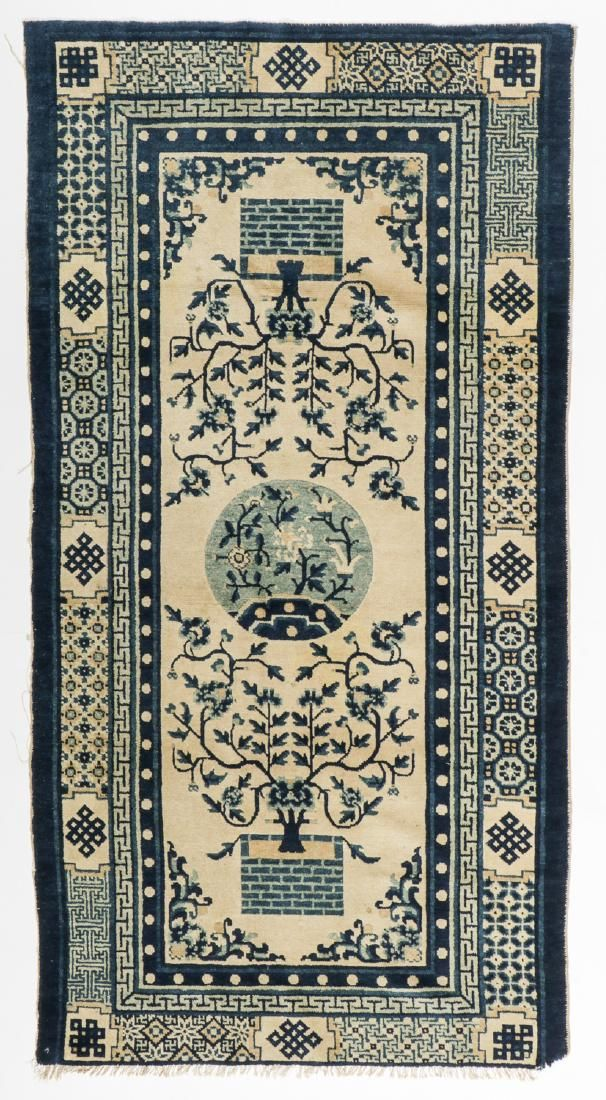 Antique Chinese Rug: 3'1'' x 6' (94 x 183 cm)