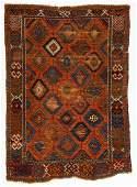 Antique East Anatolian Kurd Rug: 4'7'' x 6'6'' (140 x