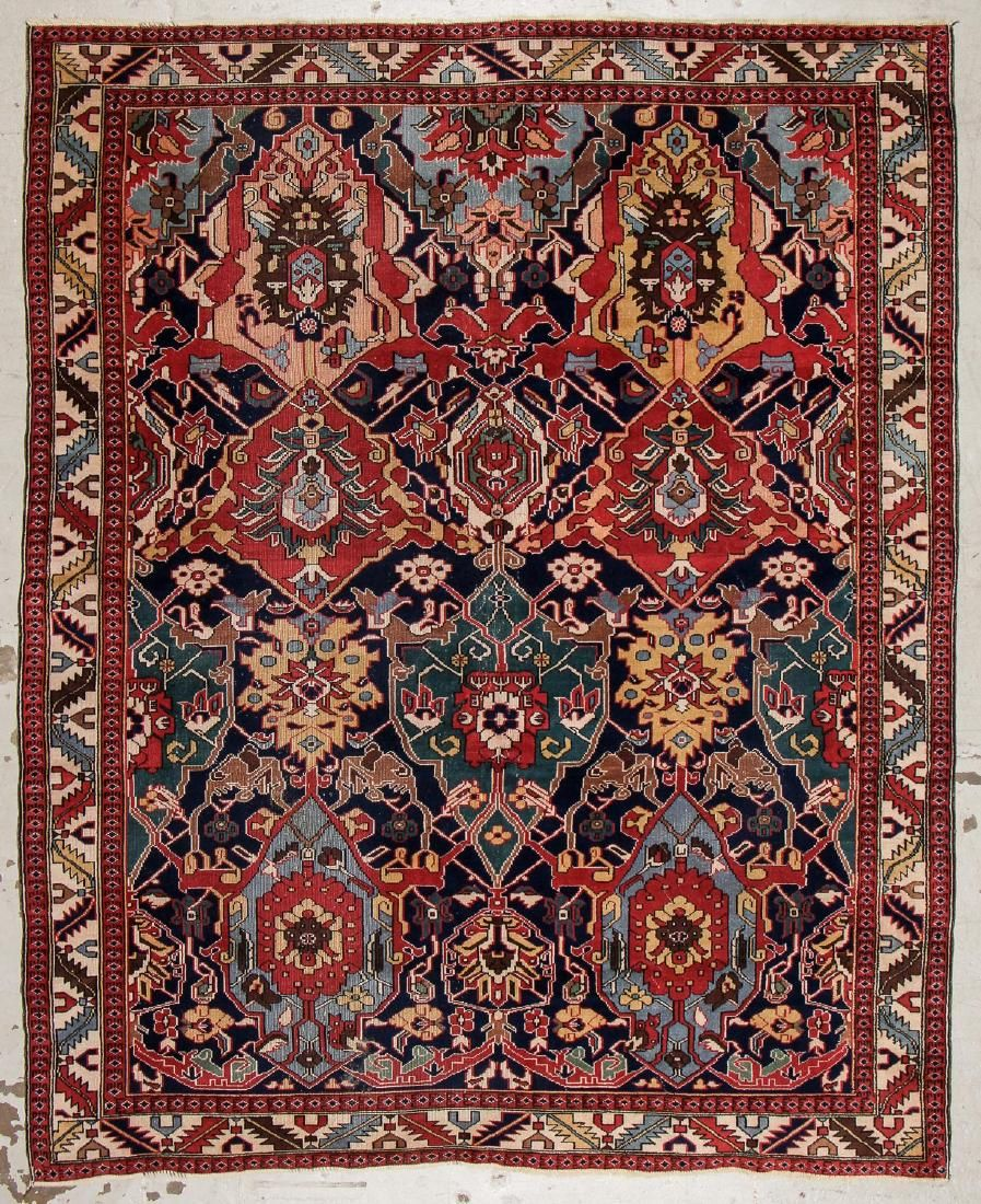 Semi-Antique Caucasian Style Dragon Rug, Turkey