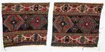 Pair of Antique Caucasian Sumakh Panels
