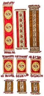 Collection of Antique Silk Velvet Continental Textiles