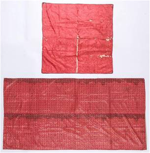 2 Antique Persian Silk Textiles