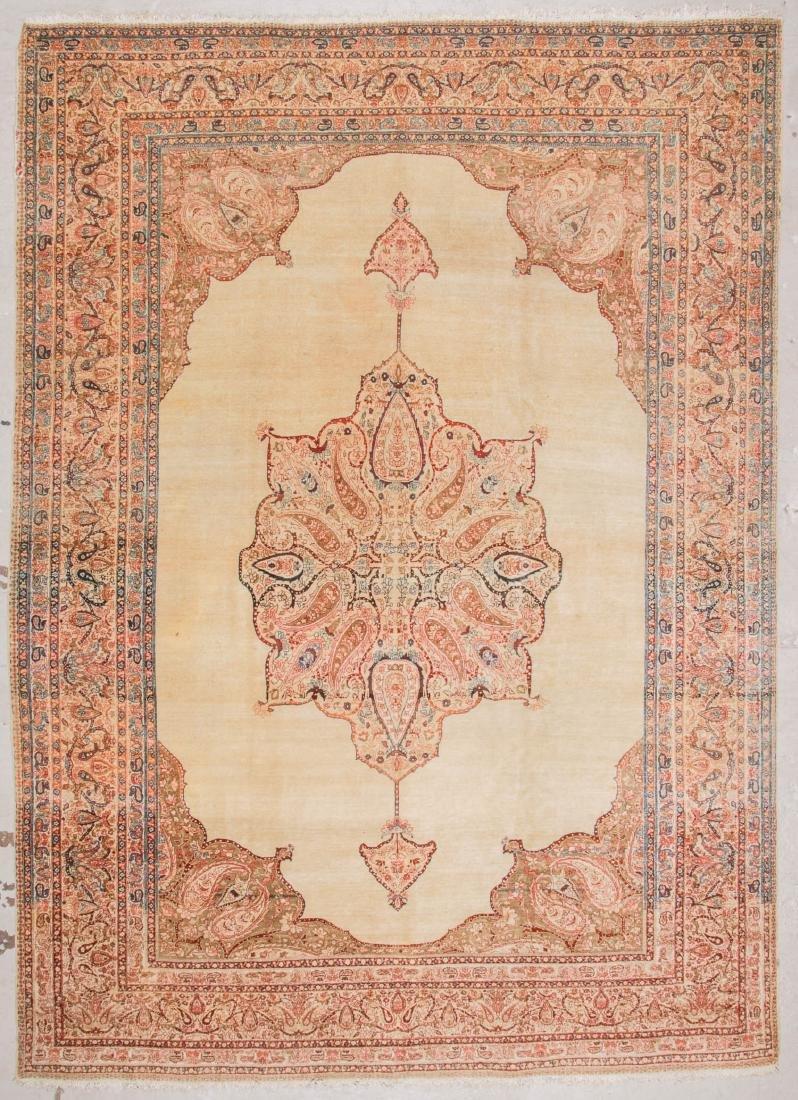 Antique Haji Jalili Tabriz Carpet, Persia: 9'5'' x