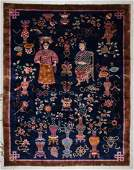 Fine Chinese Art Deco Pictorial Rug: 9'1'' x 11'7''