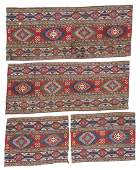 Set of 4 Antique Caucasian Sumak Panels