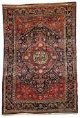 Semi-Antique Sarouk Rug: 3'5'' x 4'11''