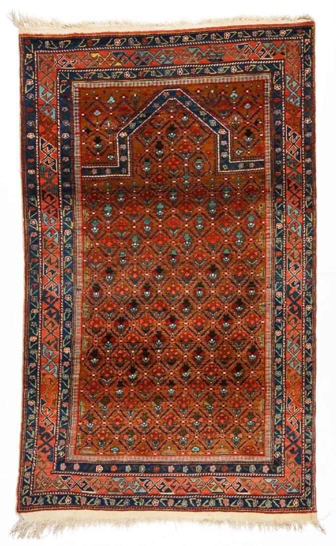 Semi-Antique Caucasian Rug: 3'2'' x 5'5''