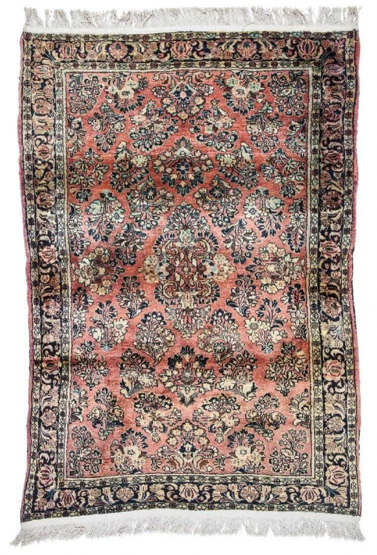 Semi-Antique Sarouk Rug: 3'3'' x 4'9''