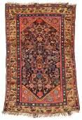 Antique West Persian Kurd Rug: 3'9'' x 5'4''