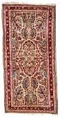 Semi-Antique Sarouk Rug: 2'1'' x 4'2''